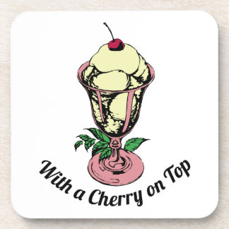 With a Cherry on Top Beverage Coaster