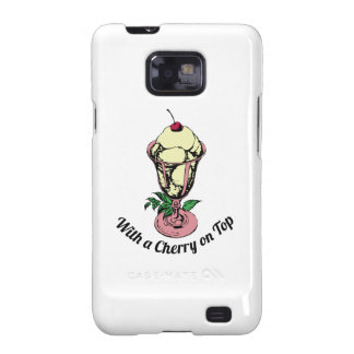 With a Cherry on Top Galaxy SII Case