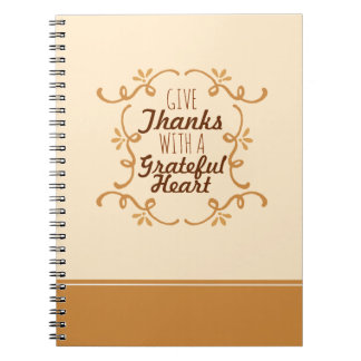 With A Grateful Heart Thanksgiving | Notebook