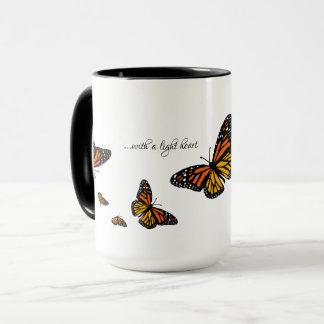 With a Light Heart - Monarch Butterfly Mug