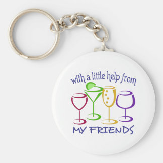 With A Little Help From My Friends Basic Round Button Key Ring