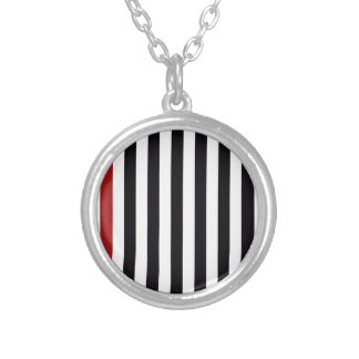 With A Red Stripe Necklace