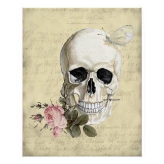 With a rose between my teeth poster