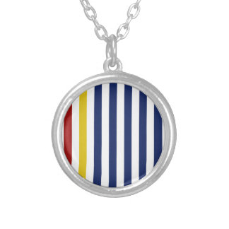With A Yellow and Red Stripe Personalized Necklace