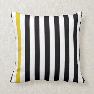 With A Yellow Stripe Cushion