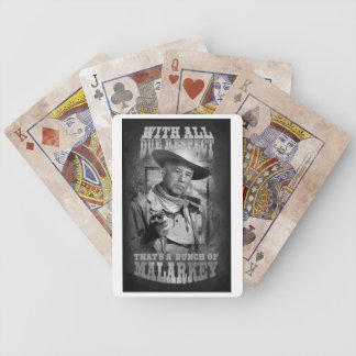 With All Due Respect Poker Deck