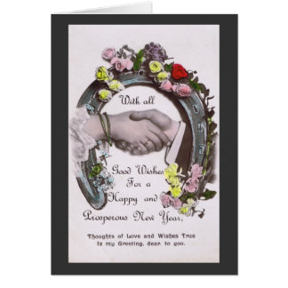 With All Good Wishes Greeting Card