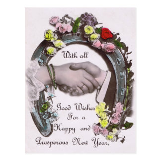 With All Good Wishes Postcard