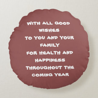 With all good wishes round cushion