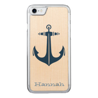 with Anchor Carved iPhone 7 Case
