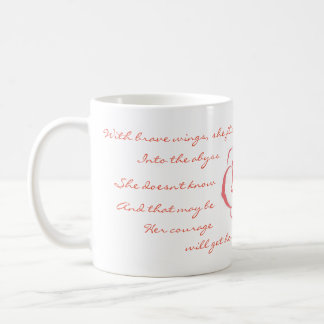 With Brave Wings, She Flies Mug