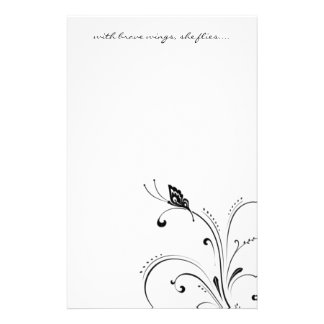 with brave wings, she flies... customized stationery