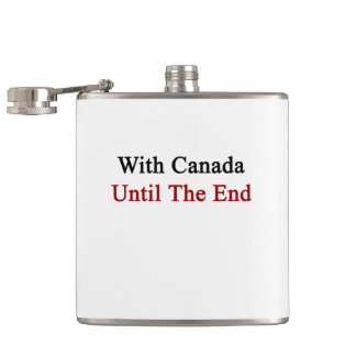 With Canada Until The End Flask