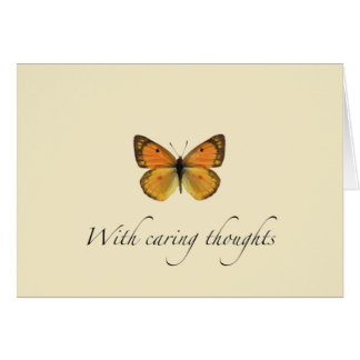 With Caring Thoughts Card