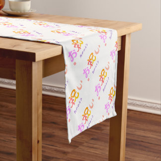 With celebration the color which is questioned the short table runner