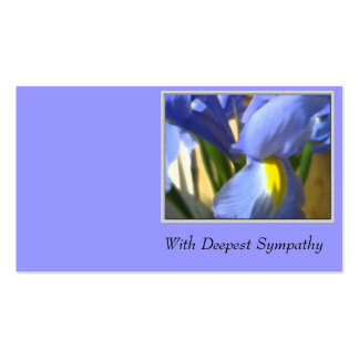With Deepest Sympathy Business Card Templates
