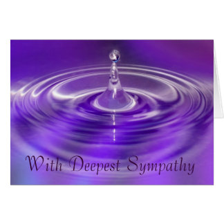 With Deepest Sympathy Card - Purple Water Drop