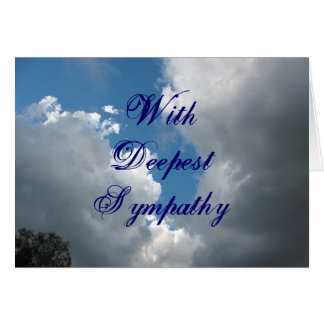 With Deepest Sympathy clouds Card