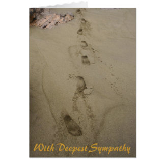 With Deepest Sympathy Condolences Greeting Card