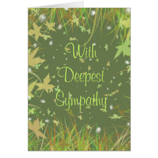 With Deepest Sympathy - Customized Card