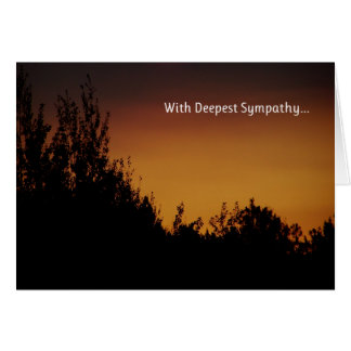 With Deepest Sympathy... Greeting Card