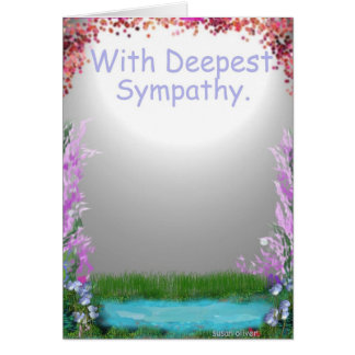 With Deepest Sympathy. Greeting Card