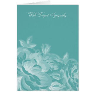 With Deepest Sympathy In Blue And White Floral Greeting Card