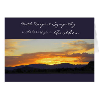 With Deepest Sympathy on the Loss of your Brother Greeting Card
