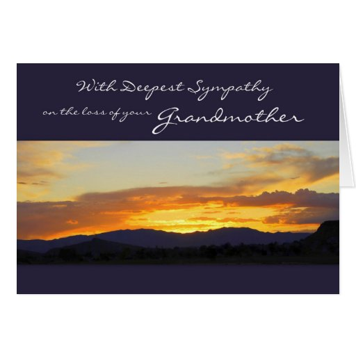 With Deepest Sympathy on the Loss of your Grandmot Greeting Cards
