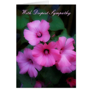 With Deepest Sympathy Pink Lavatera Card