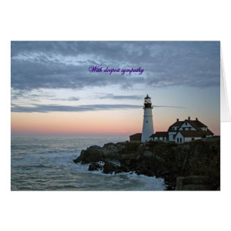 With deepest sympathy, sentinal at sunset greeting card