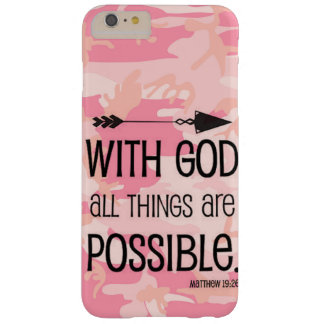 With GOD All Things Are Possible JESUS LOVE FAITH Barely There iPhone 6 Plus Case