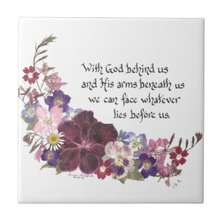 With God behind us... Tile