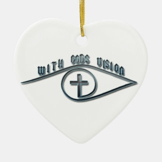 With GODS Vision Ceramic Heart Decoration