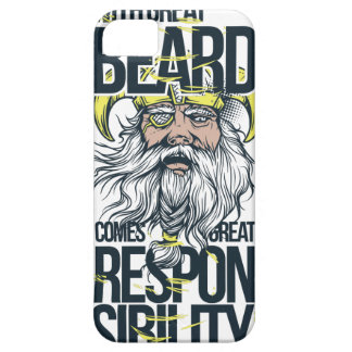 with great beard comes great responsibility barely there iPhone 5 case