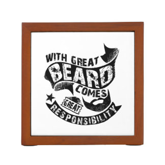 With Great Beard Comes Great Responsibility Desk Organiser