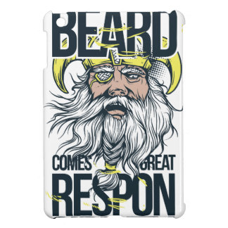 with great beard comes great responsibility iPad mini case