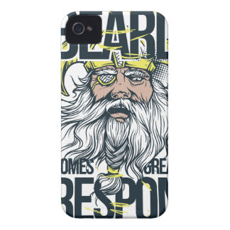 with great beard comes great responsibility iPhone 4 cases