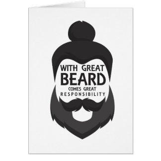With Great Beard Comes Great Responsibility Shirt Card