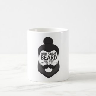 With Great Beard Comes Great Responsibility Shirt Coffee Mug