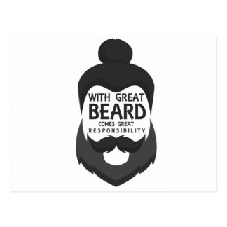 With Great Beard Comes Great Responsibility Shirt Postcard