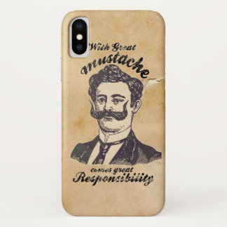 With great mustache comes great responsibility. iPhone x case