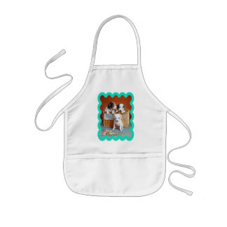 With Hearty Good Wishes by Carl Reichert Kids' Apron