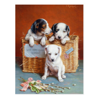 With Hearty Good Wishes by Carl Reichert Postcard