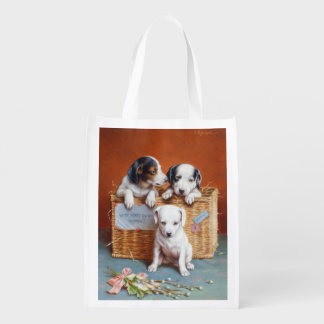 With Hearty Good Wishes by Carl Reichert Grocery Bags