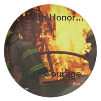 With honor...with courage... plate