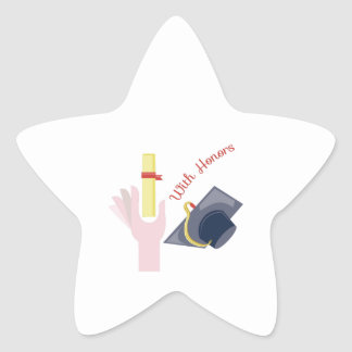 With Honors Star Sticker