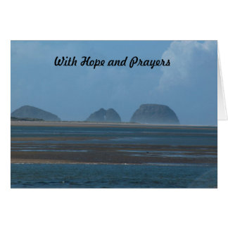 with hope and prayers card