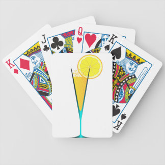 With Ice And Lemon Bicycle Playing Cards