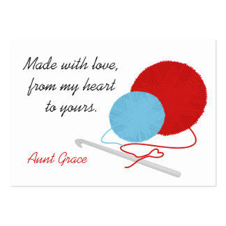 With Love Crochet Hang Tag Pack Of Chubby Business Cards